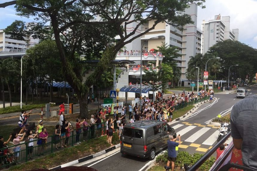 The crowd at Marine Terrace, pit stop one on Aug 18.