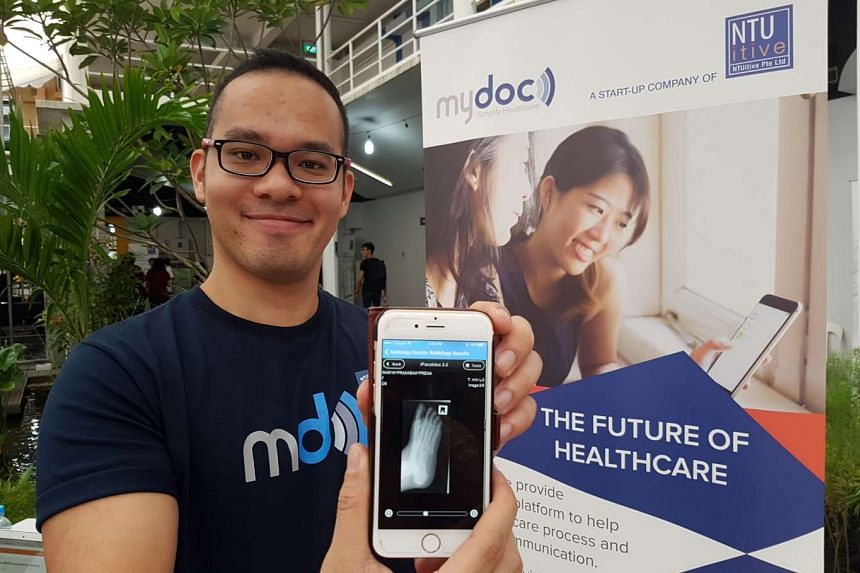 Mr Chen Terng Shing, Vice President of Marketing for MyDoc, an app that connects patients to local healthcare professionals.
