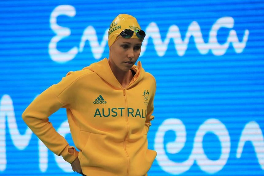 Emma McKeon of Australia competes in the Women's 200m freestyle final.