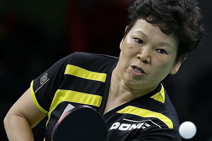Ni Xialian, crowded out by the talent in China, left to play for Luxembourg. She fell to Singapore's own adopted paddler Feng Tianwei in the singles event in Rio.