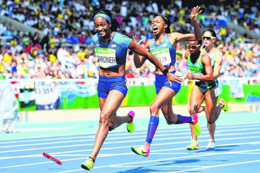 The United States women's 4x100m team will get a chance to qualify for the final after winning the right to re-run their heat in Rio this morning (Singapore time). The defending champions were facing a sensational disqualification after a dropped bat