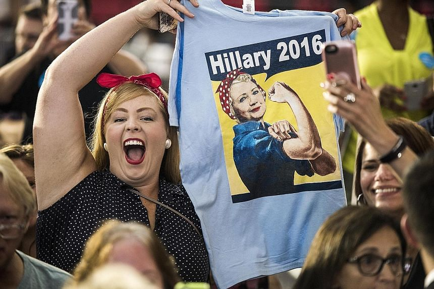 Clinton supporters during her visit to a high school in Cleveland on Wednesday. The Democratic presidential nominee is appearing in swing states but breaking no new ground in policy proposals.