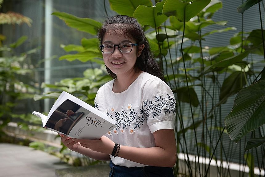 Ms Chen is among four recipients of this year's SFCCA scholarship. She will read history at Fudan University in Shanghai, starting next month.