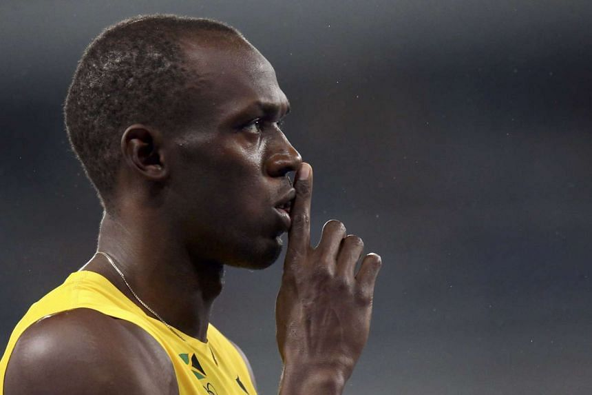 Usain Bolt after winning his third 200m Olympic gold.