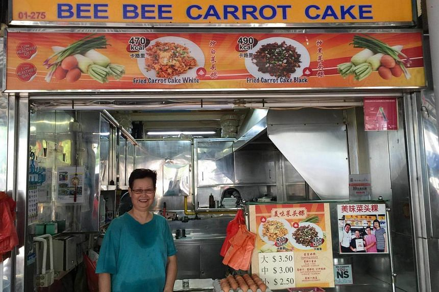 Madam Teo Kwee Lang, 68, co-owner of Bee Bee Carrot Cake at Marine Terrace.