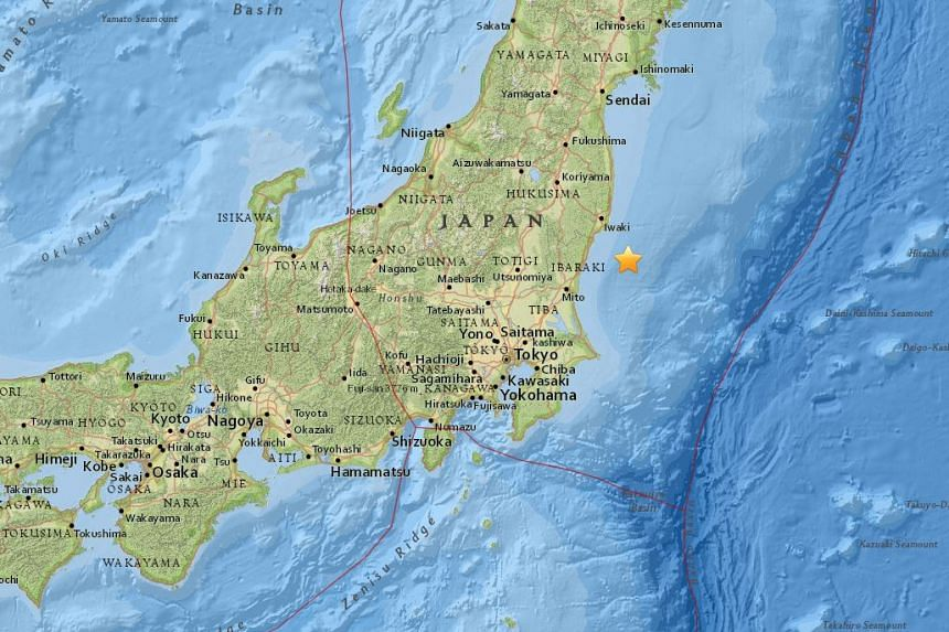 A 5.3-magnitude earthquake struck off the coast of Ibaraki prefecture in Japan on Aug 19, 2016.