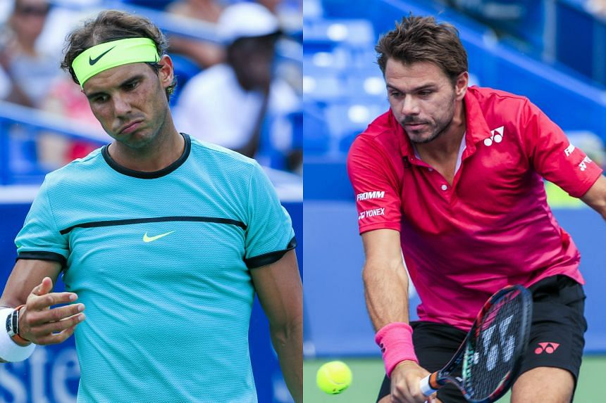 Rafa Nadal (left) and Stan Wawrinka have crashed out of the Western & Southern Open in Cincinnati.