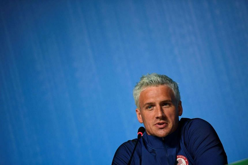 US swimmer Ryan Lochte at a press conference in Rio on Aug 3, 2016.
