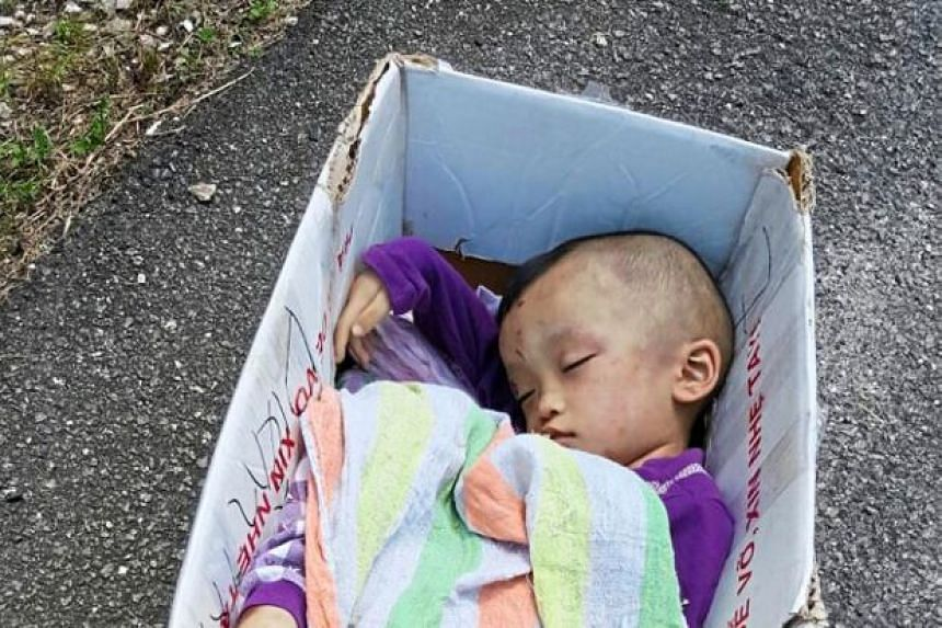 Police suspect that the boy, who was left by the road to die, was a victim of child abuse.