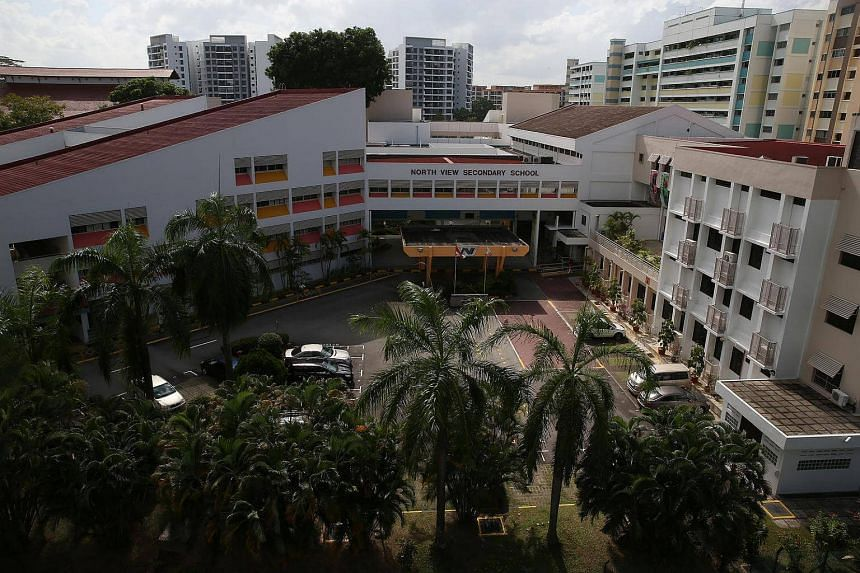North View Secondary School, where Benjamin Lim studied before he was found dead at the foot a HDB block in Yishun.