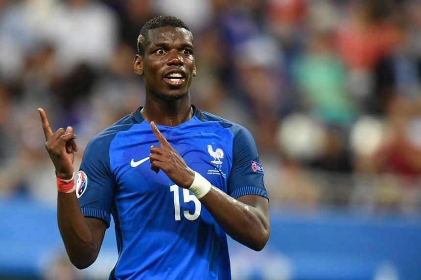 A file photo shows France's midfielder Paul Pogba.