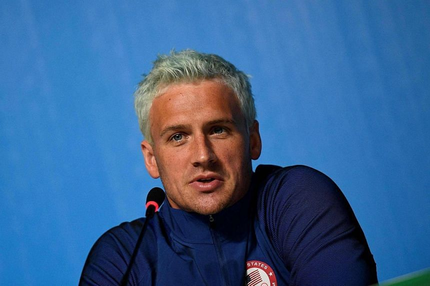 US swimmer Ryan Lochte holds a press conference on Aug 3, 2016 in Rio de Janeiro.