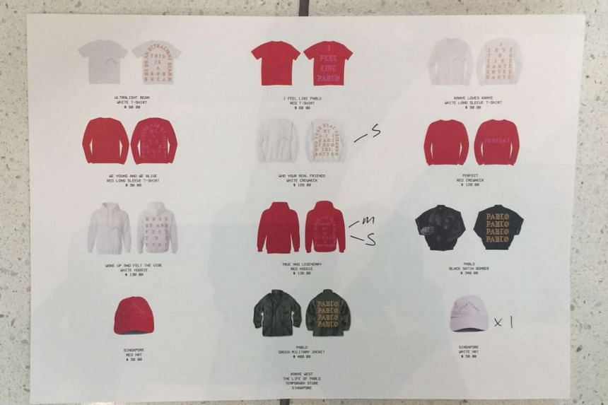 The merchandise on sale at the pop-up store.