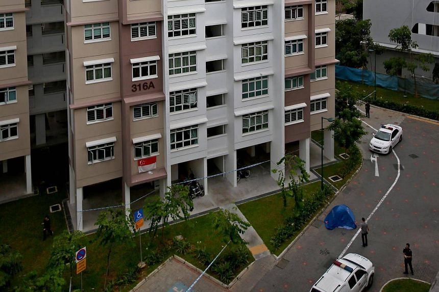 Benjamin Lim was found motionless at the foot of this block of flats in Yishun on January 26.