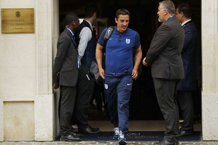 Gary Neville, part of the England contingent, during Euro 2016 in France.
