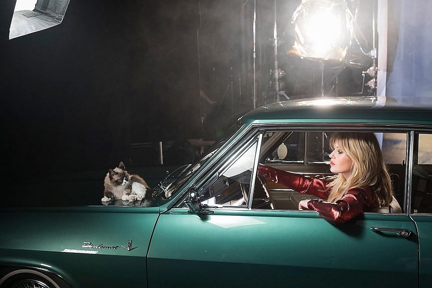 Internet sensation Grumpy Cat and supermodel Georgia May Jagger will be featured alongside Opels for the automaker's calendar next year.