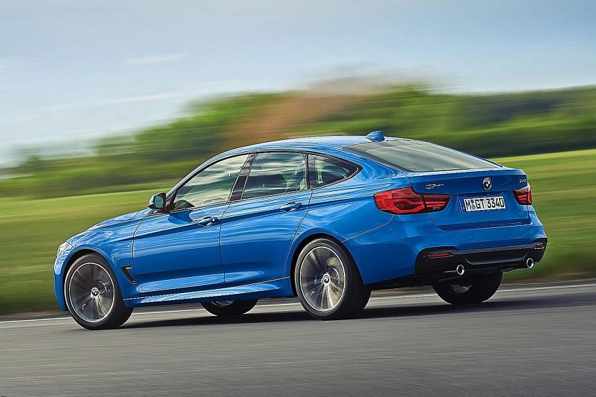 The BMW 340i Gran Turismo accelerates to top speed with little drama.