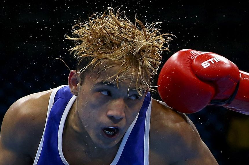 Yoel Finol of Venezuela competes in the men's fly (52kg) semi-finals.