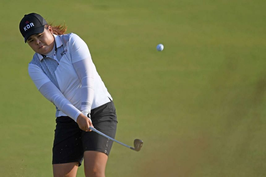 South Korea's Park Inbee competes in the Women's individual stroke play at the Olympic Golf course.