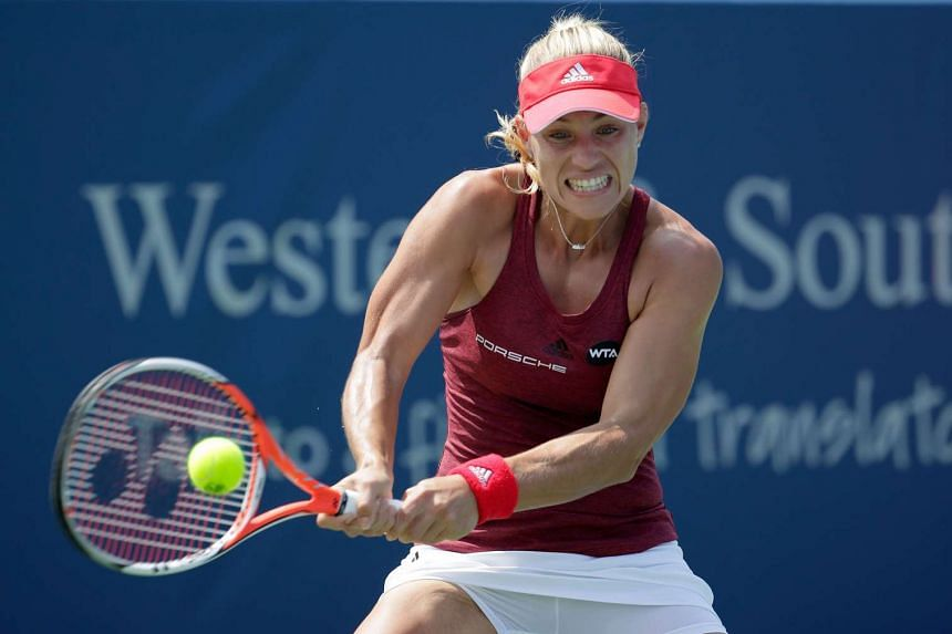 Angelique Kerber overcame a slow start before finding some form.