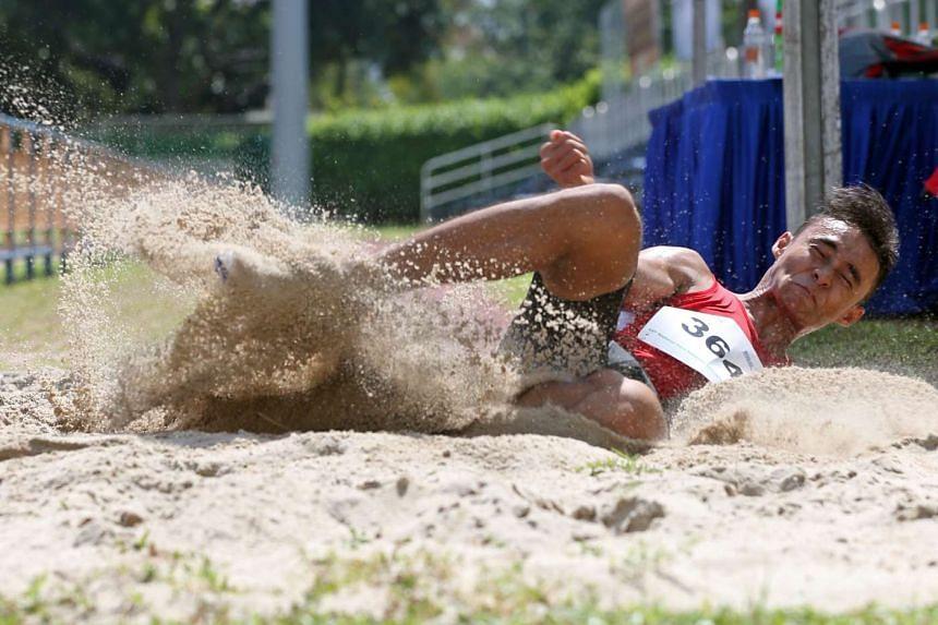 Rio-bound long jumper Suhairi Suhani at the National Para Athletics Championships.