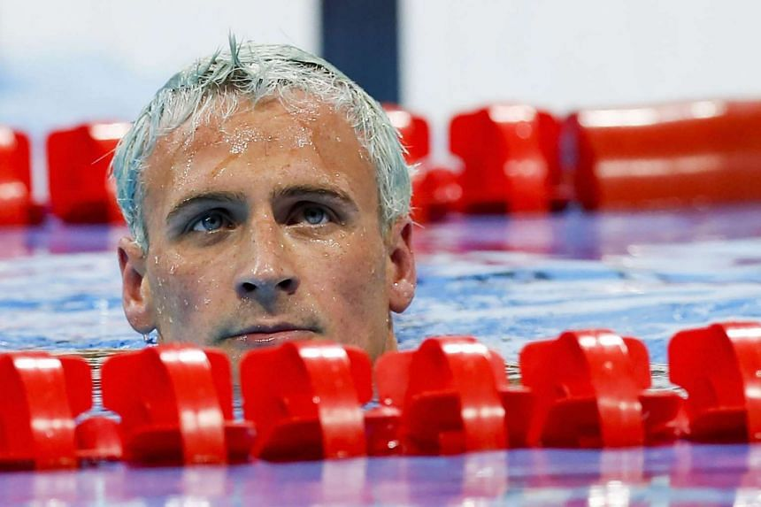 Lochte competing at the Rio Olympics on Aug 11, 2016.