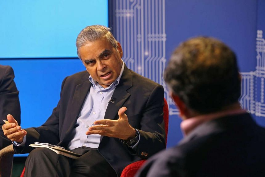 Dean of the Lee Kuan Yew School of Public Policy Professor Kishore Mahbubani speaks at The Straits Times Future Economy Roundtable on Asia discussion.
