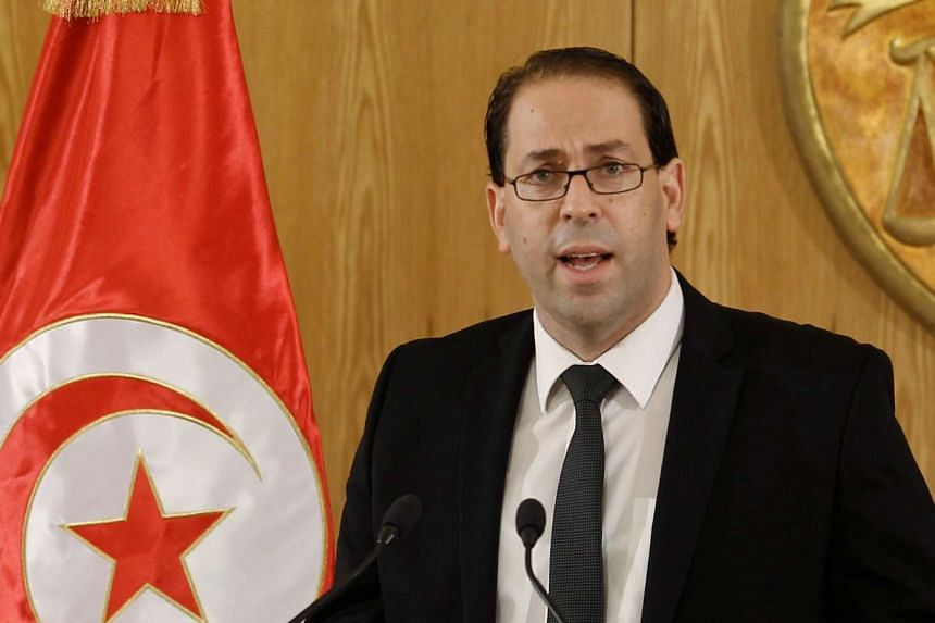 Tunisia's Prime Minister-designate Youssef Chahed at a news conference on Aug 20, 2016.