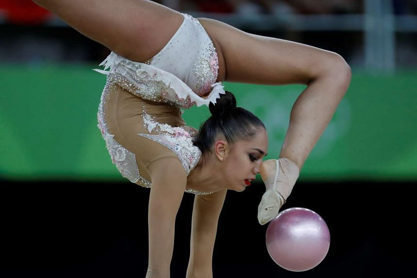 Russia's Margarita Mamun competes in the individual all-around final.