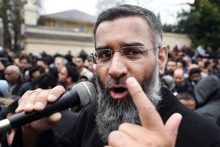 Choudary at a rally outside the Regent's Park mosque in London last year. Despite his inflammatory speeches, he managed to stay out of trouble with the law, spewing hate under the banner of freedom of expression.