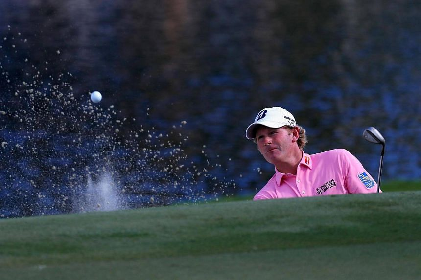 Brandt Snedeker on the 15th hole during the third round of the Wyndham Championship on August 20.