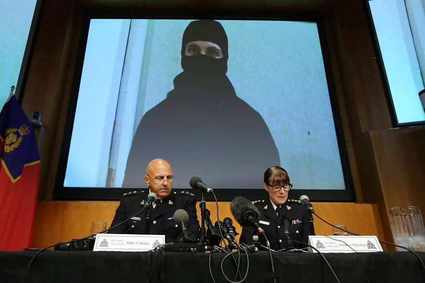 RCMP Assistant Commissioner Mike Cabana (left) and Assistant Commander for Ontario Jennifer Strach speak during a press conference at the RCMP National Headquarters.