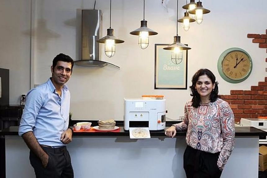 Husband and wife duo Rishi Israni and Pranoti Nagarkar, who developed the Rotimatic.