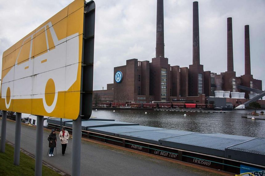 Volkswagen plant in Wolfsburg, northern Germany, on March 7, 2016.
