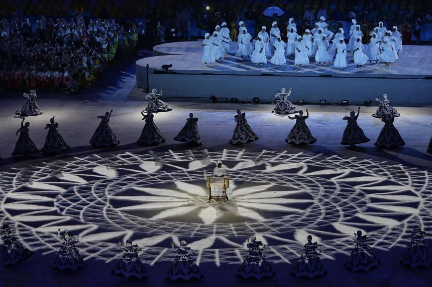 A dance performance during the closing ceremony of the Rio 2016 Olympic Games at the Maracana in Rio de Janeiro, Brazil, on Aug 21, 2016.