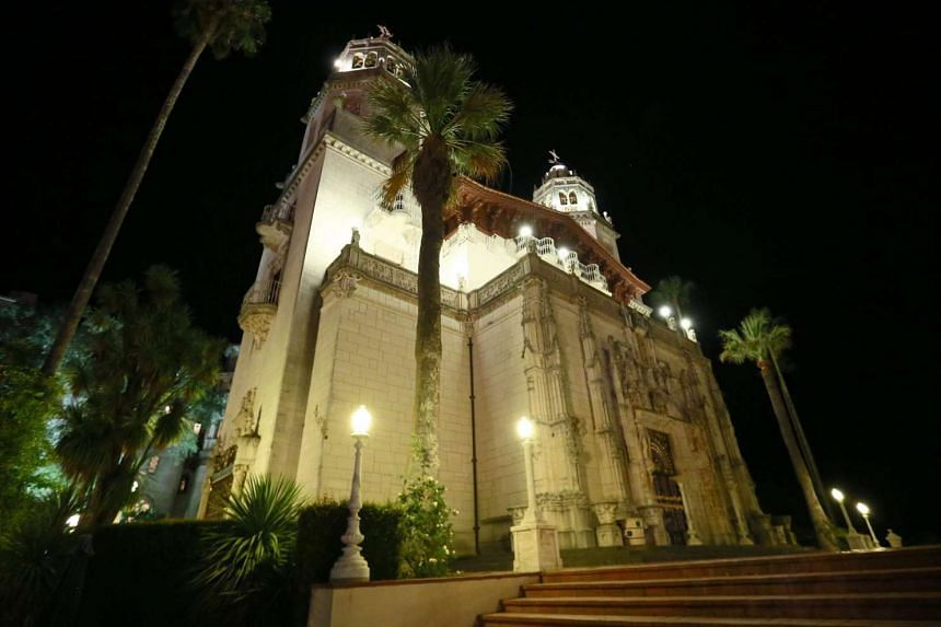 An exterior view of the Hearst Castle in Sanm Simeon, California.