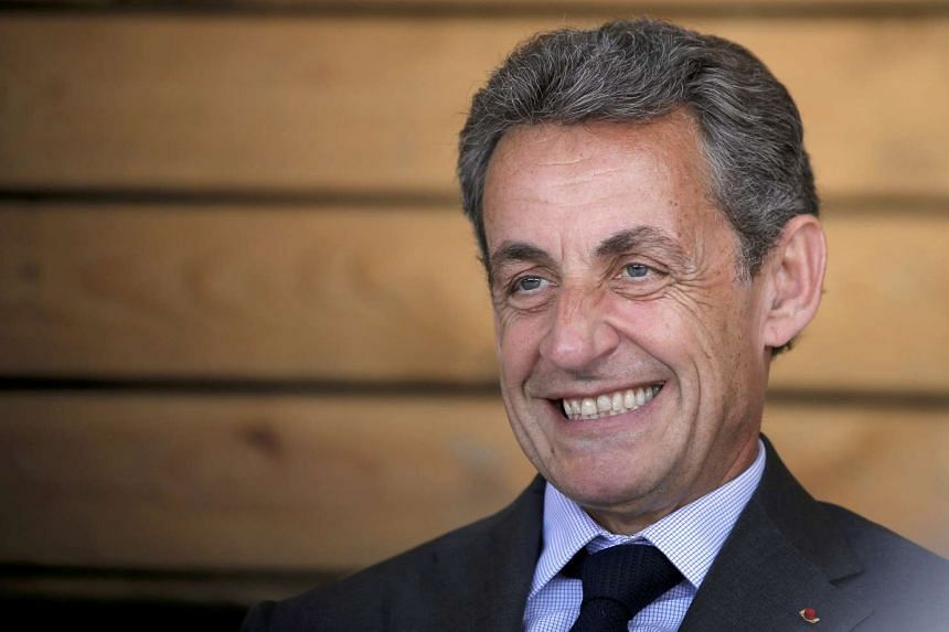 Mr Nicolas Sarkozy, head of France's Les Republicains political party and former French president, while attending a meeting with farmers at a farm in Kriegsheim near Strasbourg, France, July 9, 2016. Former French President Nicolas Sarkozy will run