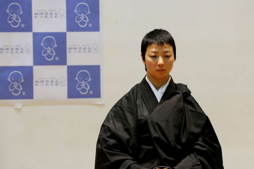 Nun Koyu Osawa was declared the spectators' favourite in a contest at Life Ending Industry Expo in Tokyo on Aug 22, 2016.
