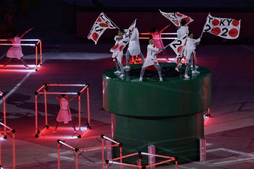 A dance performance depicting Japan during the closing ceremony of the Rio 2016 Olympic Games at the Maracana in Rio de Janeiro, Brazil, on Aug 21, 2016.