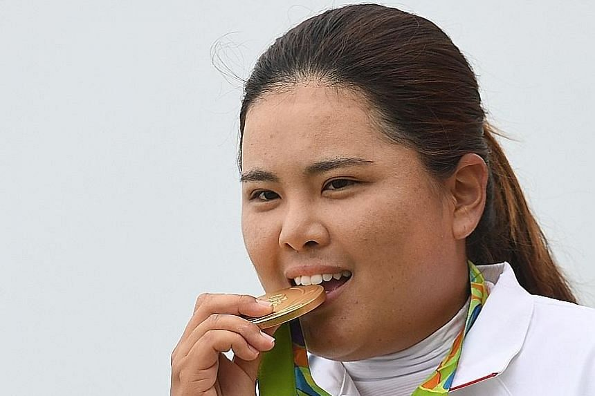 South Korean golfer Park In Bee putting the malleability of her gold medal to the test. The golf competition's return to the Olympics have been widely recognised as successes, despite multiple withdrawals in the men's field.