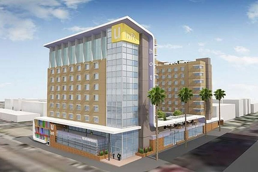 An artist's impression of Chiwayland's maiden project in the US - a mixed-use development in Los Angeles, which will comprise 60 residential units and a 250-room hotel.