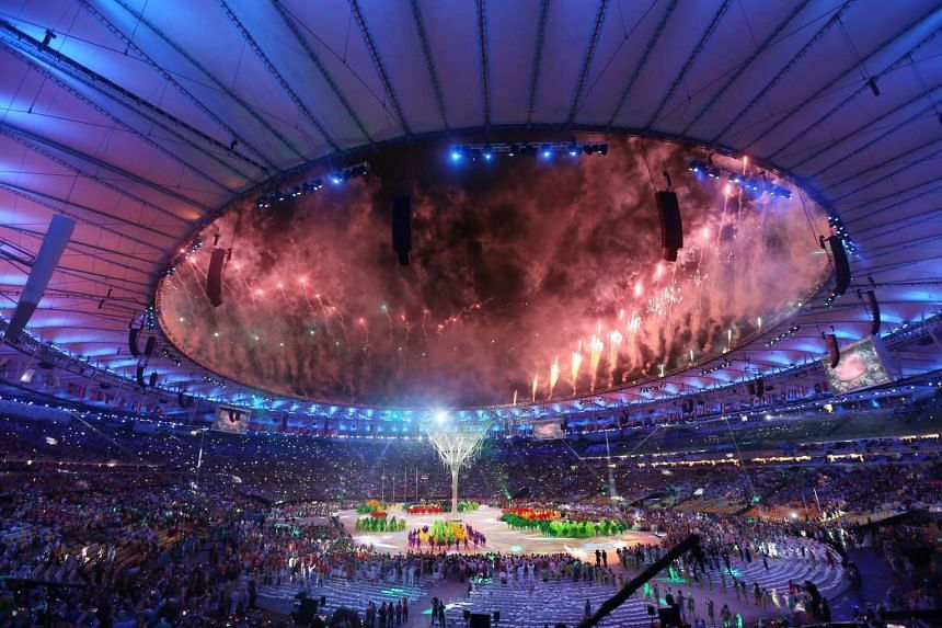The Closing Ceremony of the Rio 2016 Olympic Games at the Maracana Stadium in Rio de Janeiro, Brazil on Aug 21, 2016.