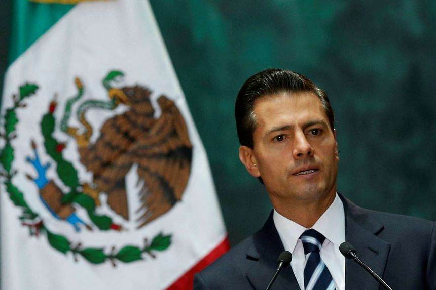 Mexico's President Enrique Pena Nieto gives a speech during an official welcoming ceremony, at the National Palace in Mexico City on Aug 1, 2016.