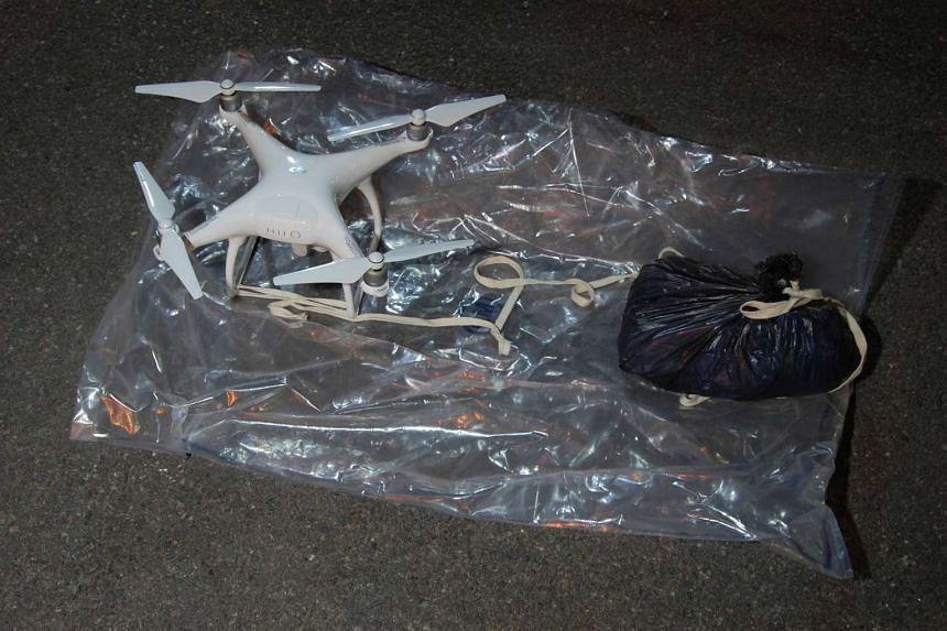 A drone intercepted by police as it was being flown near a north London prison.