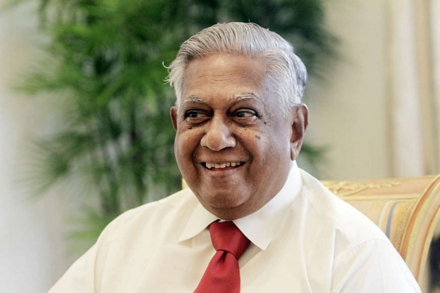 Mr S R Nathan at the Istana in this picture taken on March 10, 2011.