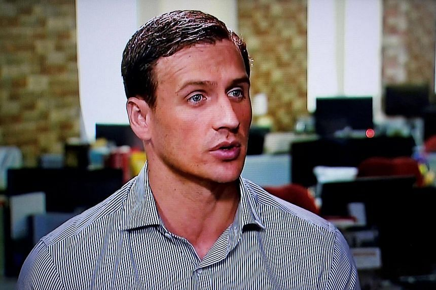 In this still image from a video, Olympic gold medallist swimmer Ryan Lochte of the US gives an interview to Globo TV at their studios in New York City, August 20.