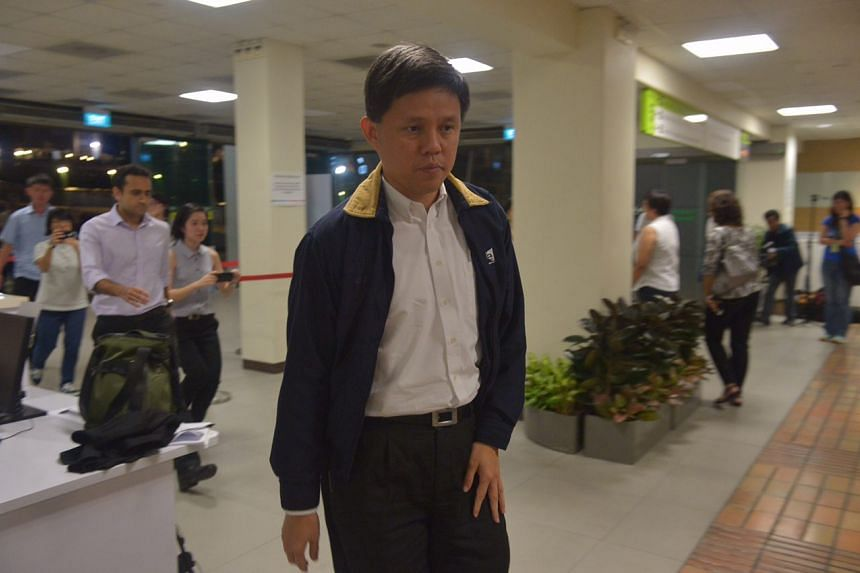 Minister in the Prime Minister's Office Chan Chun Sing arriving at Singapore General Hospital after hearing news of the death of former president S R Nathan, on Aug 22, 2016.