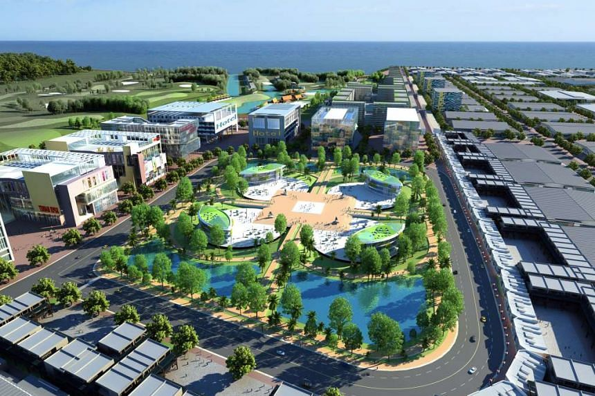 On Thursday, Mr Lee will have a leaders' retreat in Semarang, Indonesia, where SembCorp has a joint venture to build the Kendal Industrial Park (above).