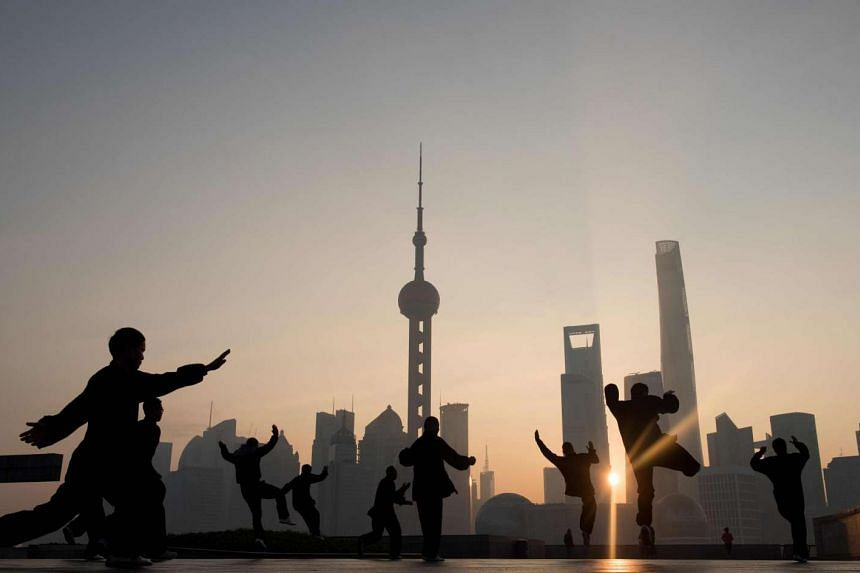 The skyline of the Lujiazui Financial District in Shanghai on Dec 1, 2015.