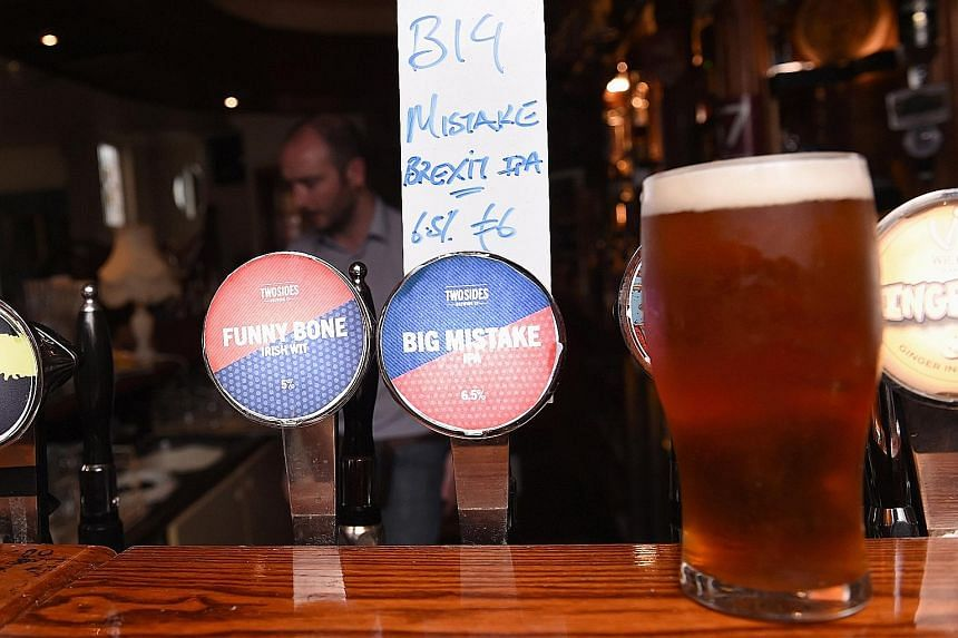 "A Dublin bar with its specially brewed Brexit beer ""Big Mistake"". But not all is lost, judging by how some firms are faring."